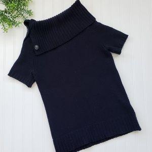 Theory Navy Blue Wool Cashmere Sweater sz Medium
